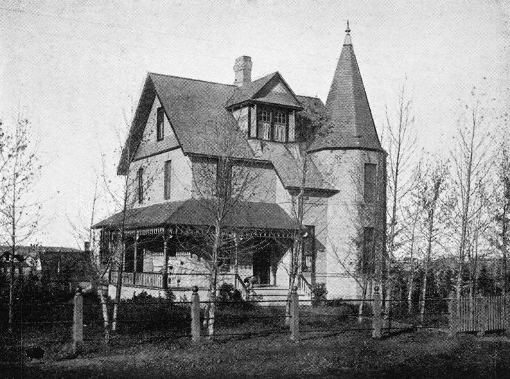 Built by John Joseph McHugh, originally from Ottawa, a Calgary pioneer and prominent rancher. 'The house is an early, rare, and intact example of Queen Anne Revival-style architecture in Calgary, and the best and earliest example in the Mission district.' 1903 photo showing the McHugh House - 'Glenwood' (Courtesy of Glenbow Archives) Photo/Info: City of Calgary