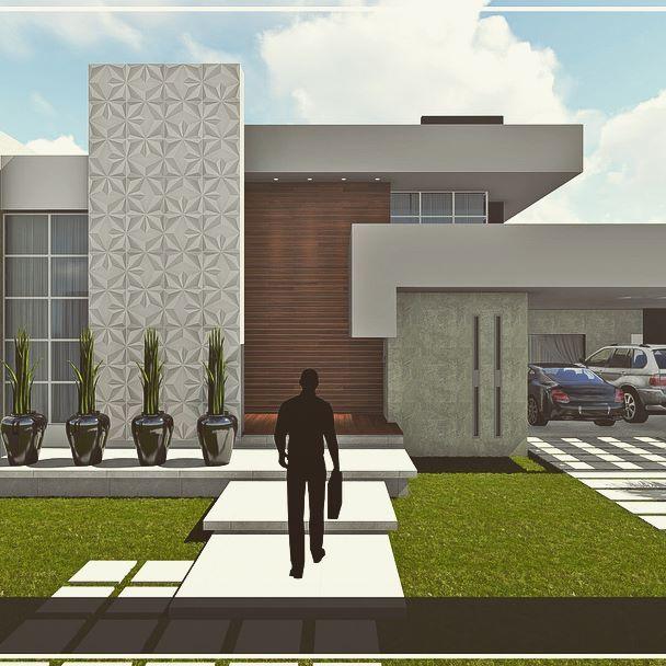 Vertical e horizontal, o belo encontro de linhas retas, em uma composição encantadora …   – casa terrea