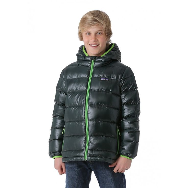 Ultralight and water-resistant, the Patagonia Boys Hi-Loft Down Sweater Hoody is insulated with 100% Traceable Down. Get it now at WinterKids.com.