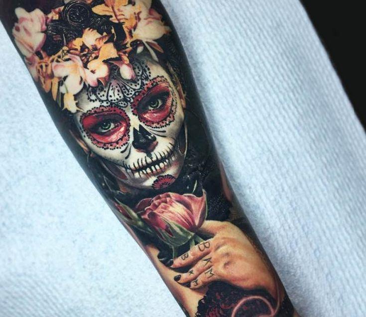 Muerte tattoo by Ben Kaye