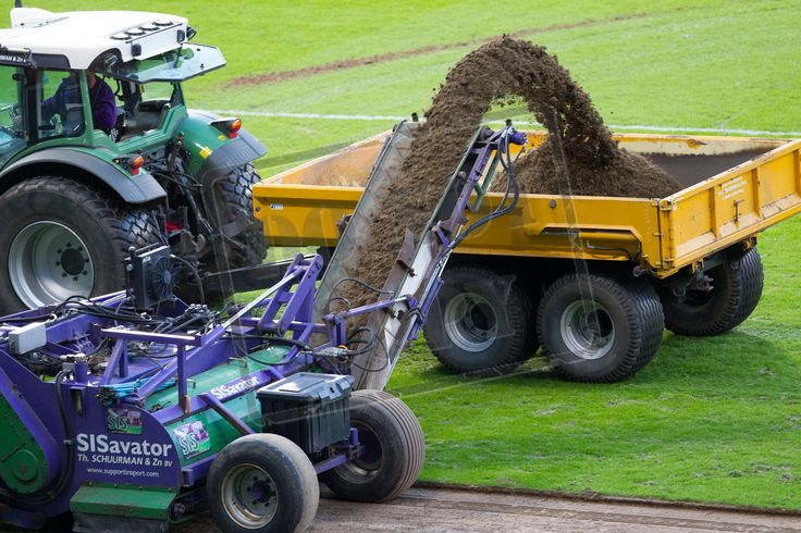 Hampden Park being dug up after the SPFL League Two game between Queen's Park and Berwick Rangers