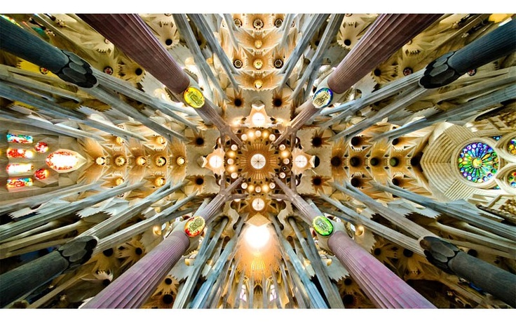 THE CEILING OF SAGRADA FAMILIA   Photograph by SBA73   The Basilica i Temple Expiatori de la Sagrada Familia, commonly known as the Sagrada Familia, is a large Roman Catholic church in Barcelona, Catalonia, Spain, designed by Catalan architect Antoni Gaudi (1852–1926). Although incomplete, the church is an UNESCO World Heritage Site, and in [...]