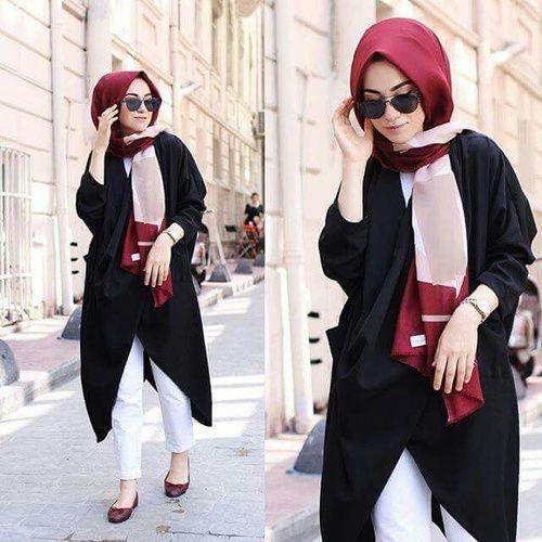 elegant, fashion, and hijab image
