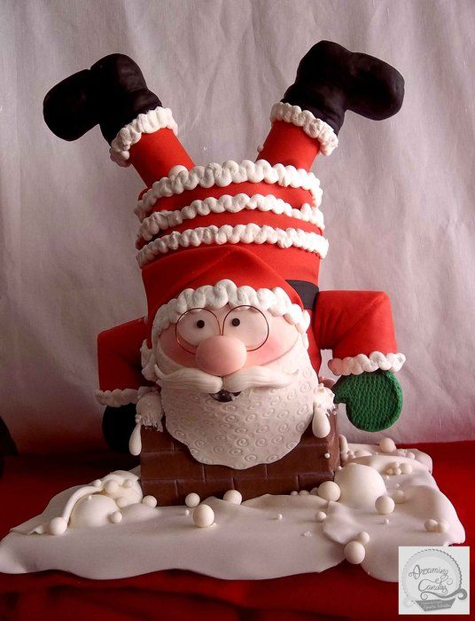 "3D FONDANT CAKE ""SANTA CLAUS"" - by dreamingcandies @ CakesDecor.com - cake decorating website"