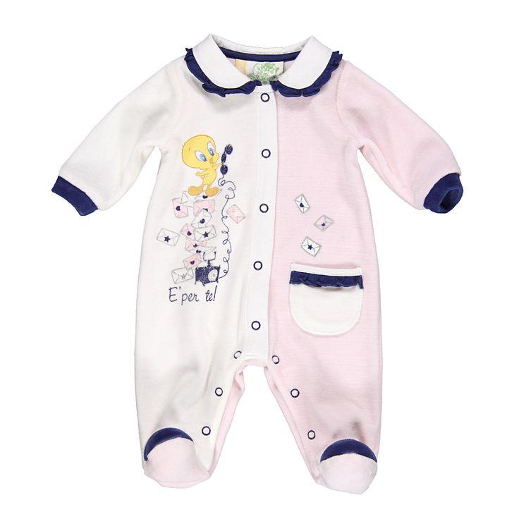 Tutina rosa e bianca Baby TittyDa Neonata   Abbigliamento Store