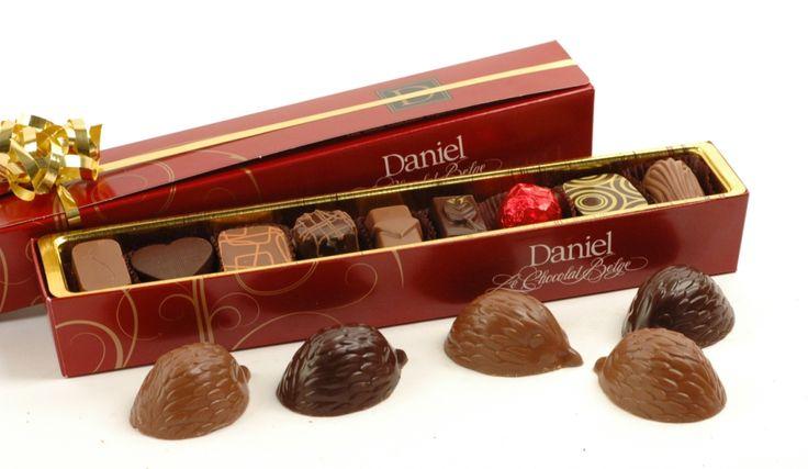 9 assorted chocolates in our signature box