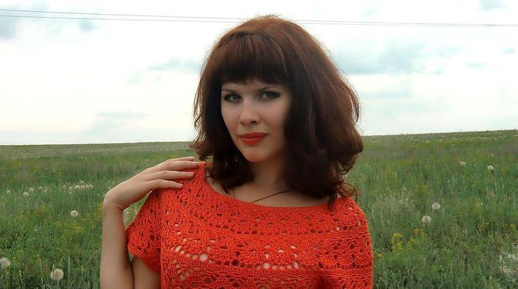 Купить или заказать Платье 'Оранжевое небо' в интернет-магазине на Ярмарке Мастеров. Вот уже подряд два дня Я сижу, рисую. Красок много у меня - Выбирай любую. Я раскрашу целый свет В самый свой любимый цвет: Оранжевое небо, Оранжевое море, Оранжевая зелень, Оранжевый верблюд. Оранжевые мамы Оранжевым ребятам Оранжевые песни Оранжево поют. ____________________________________________ Платье связано из хлопка, потому в нем ком…
