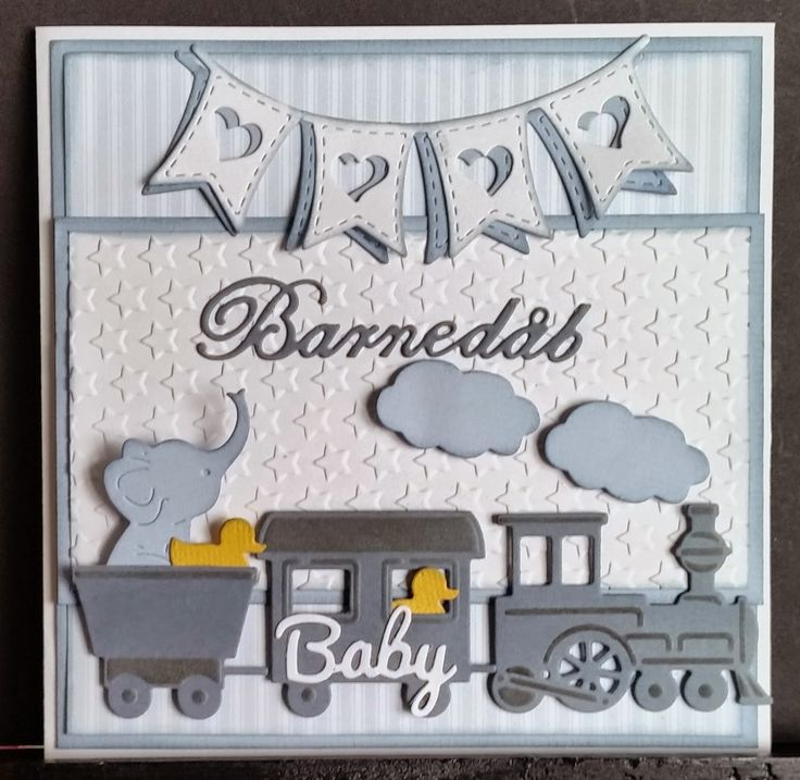 card train Marianne design train die Cottage cutz elephant duck baby card kid card welcome birthday kortblogger: Dåbs kort.