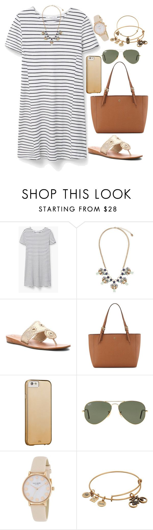 """""""a friend loves at all times. Proverbs 17:17"""" by isabella813 ❤ liked on Polyvore featuring MANGO, Accessorize, Jack Rogers, Tory Burch, Ray-Ban, Kate Spade and Alex and Ani"""