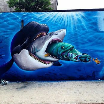 Street art in Florianópolis, Brazil, by dcypher_dtrcbs. Photo by Sampa Graffitti.