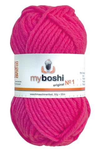 myboshi No.1 182 neonpink 70% Polyacryl und 30% Schurwolle (Merino) 3,75 €