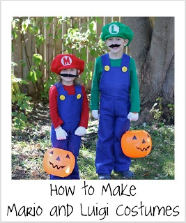 Mario Brothers costume tutorial
