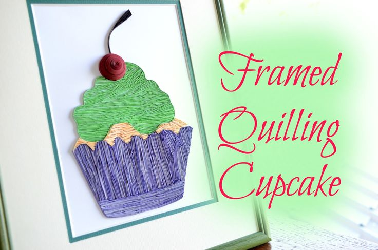 Cupcake made from quilling  paper and framed