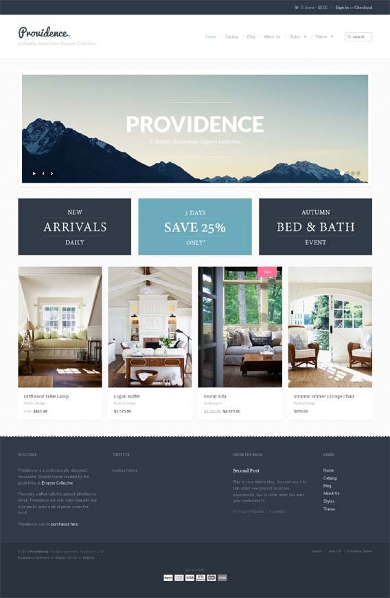 Providence, Shopify Premium Retina Ready Theme