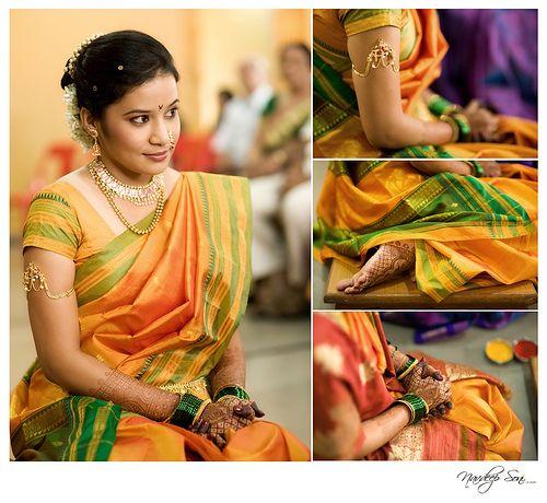 Traditional marathi jewellery saree bridal