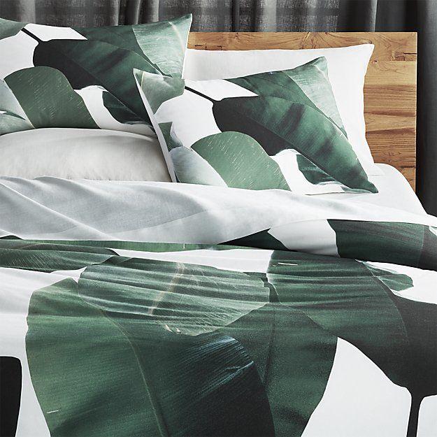 Banana Leaf King Duvet Cb2 Bed Linen Design Bed Linens Luxury