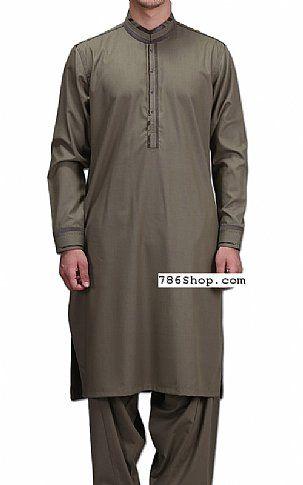 Grey Men Shalwar Kameez Suit   Buy Pakistani Indian Dresses