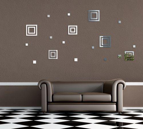 Nalepovacie dekoračné zrkadlá štvorce