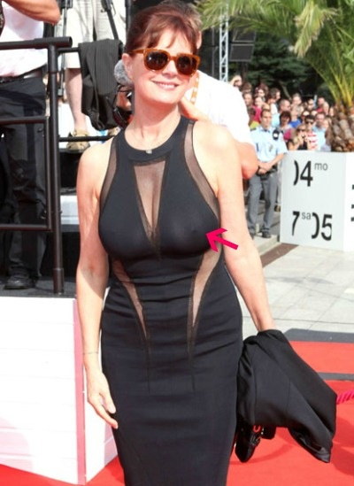 Sarandon wardrobe malfunction susan