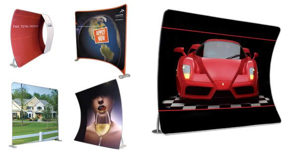 Radium Stretch Fabric trade show displays