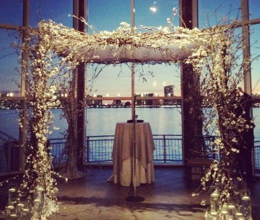 Winter Wedding Ceremony Ideas: Wedding Arch Idea Simple