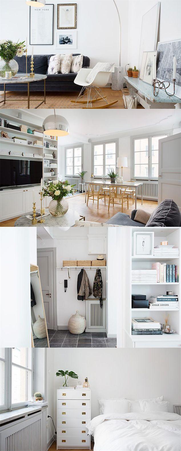 I den här tvåan på 56 kvadratmeter i Stockholm har man lyckats få till en underbar stil. Ljust och fräscht utan att bli tråkigt. Designklassiker som Wegners Y-stol, Eames Rocking Chair blandat med fina detaljer som Svenskt Tenns vackra ljusstake … Läs mer →