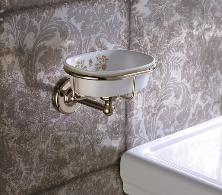 Pics On Royal Crown Derby by Samuel Heath wall mounted soap dish