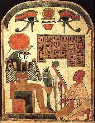 Ra or Re, the Egyptian sun god