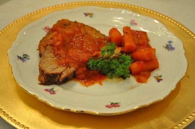 Barefoot Contessa Ina Garten's Beef Brisket with Carrots & Onions ~ easy & delicious recipe.