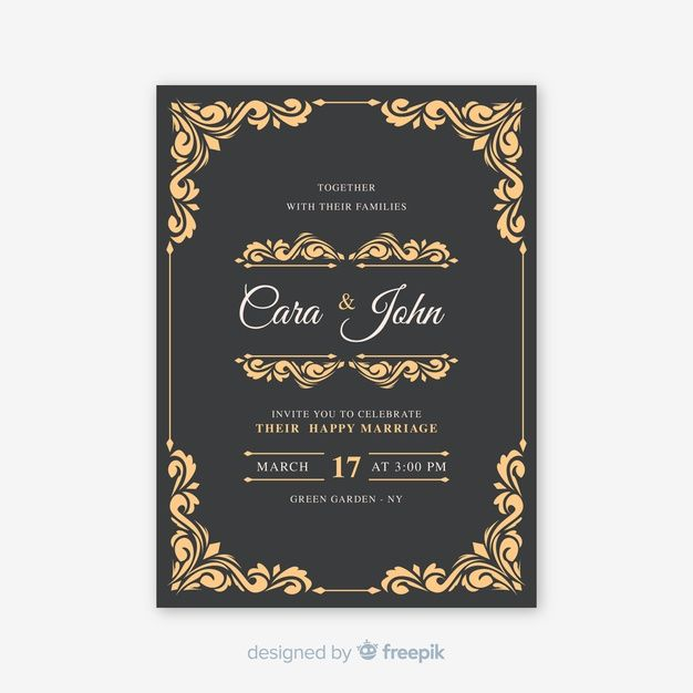 Download Vintage Ornamental Wedding Card For Free Wedding Cards Free Invitations Wedding Invitations