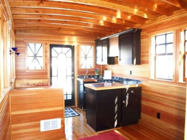 LOVE the use of wood, windows, black in kitchen and dinette. TB11