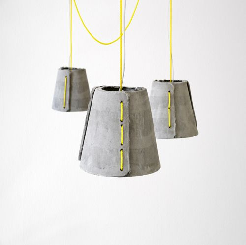 concrete yellow lamp