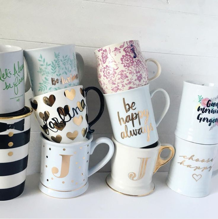All the pretty coffee mugs <3