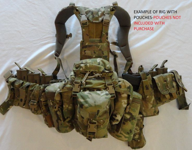 Mystery Ranch Recce harness/LBE in Multicam that was created at the request of a US SOF group for use by their sniper reconnaissance operators. It is based on the wildland Firefighter rigs.
