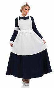 Ladies Victorian Nurse Fancy Dress Costume