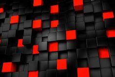 黒と赤の3Dキューブの壁紙 | 壁紙キングダム PC・デスクトップ版