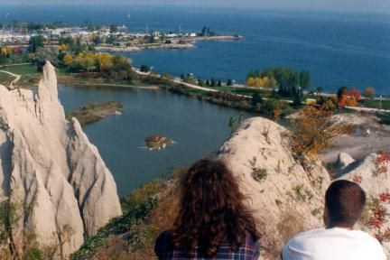 One of the best view over the lake, Scarborough Bluffs Park, Scarborough, in 500-page family guide Toronto Fun Places