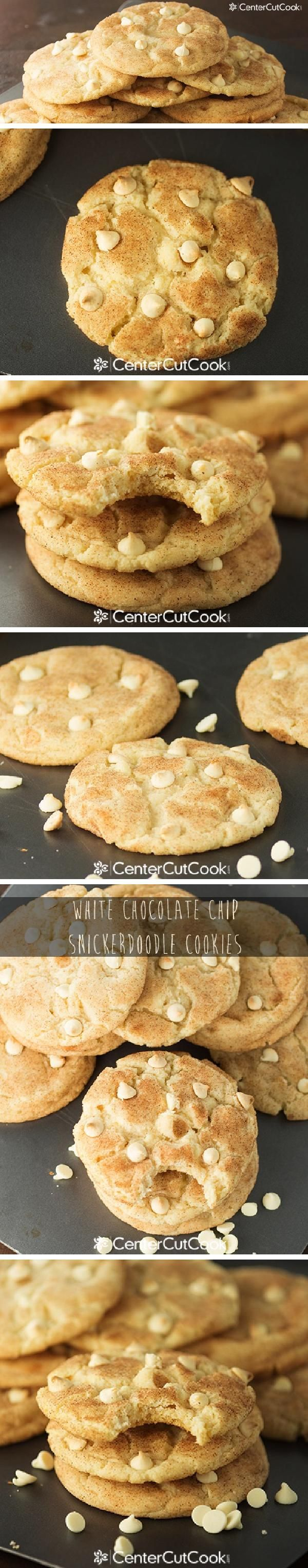 Soft,big, thick and chewy WHITE CHOCOLATE CHIP SNICKERDOODLE COOKIES!