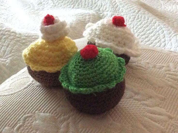 Pastelitos a crochet