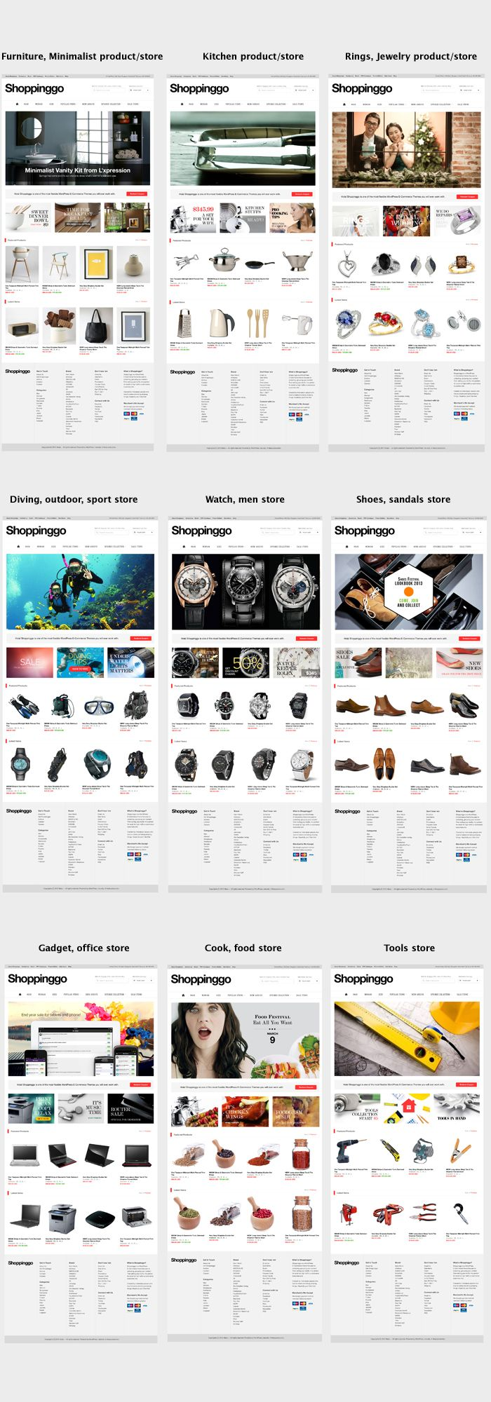Shoppinggo - Clean Online Store Template (Retail)