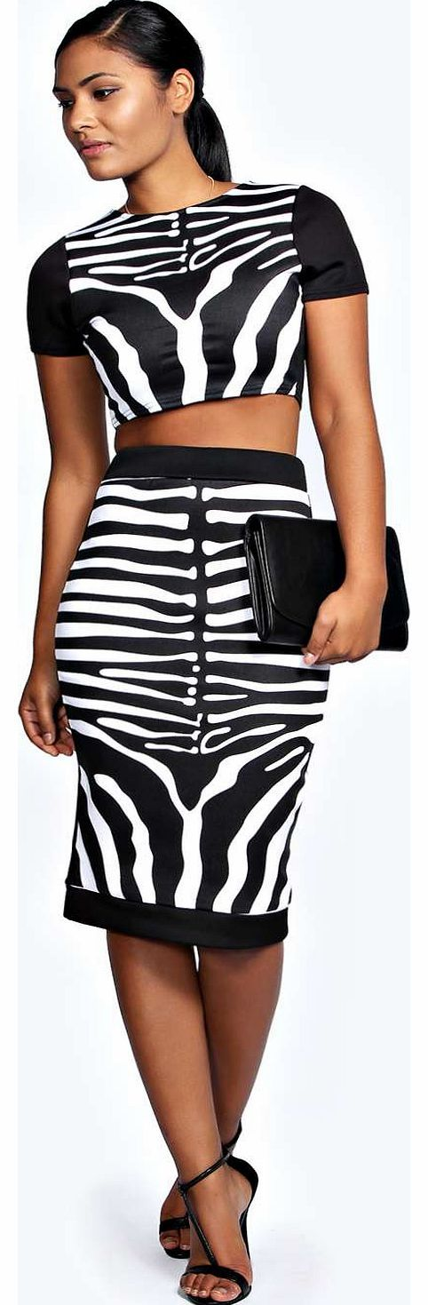 boohoo Sasha Zebra Print Crop and Midi Skirt Co Ord - Quit clashing and keep it matchy matchy in co-ords for maximum style kudos. Go print perfect in an Aztec print bandeau top and skirt duo, or dare to do double denim in a jacket and high waisted shorts http://www.comparestoreprices.co.uk/skirts/boohoo-sasha-zebra-print-crop-and-midi-skirt-co-ord-.asp