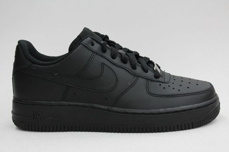 Nike Air Force 1 Low All Black on Black Authentic Big Kids Size Shoes Sneakers #FOLLOWITFINDIT