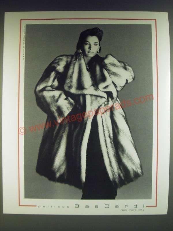 1985 Pellicce Bascardi Fur Fashion Ad - photograph by Francesco Scavullo