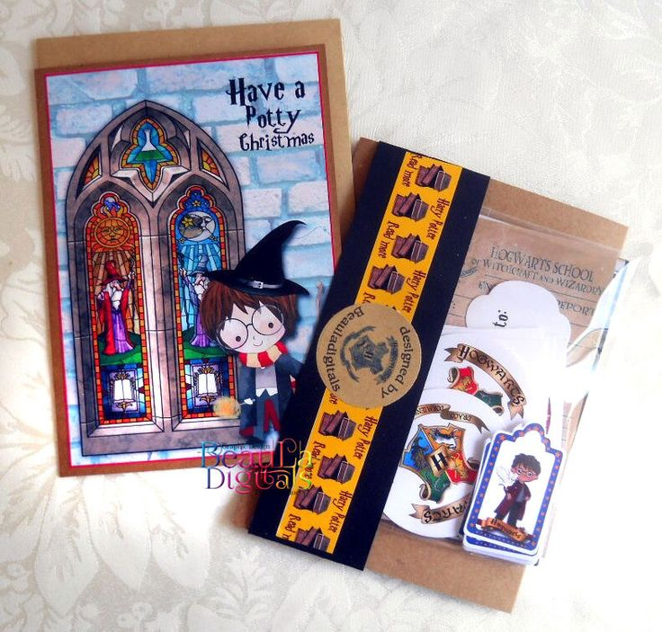 Harry Potter Themed  Christmas Card Gift - Loaded Envelope Card -lots of goodies