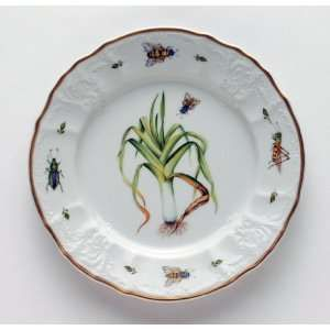 Anna Weatherley Antique Vegetables Leek Salad Plate 7.5 In