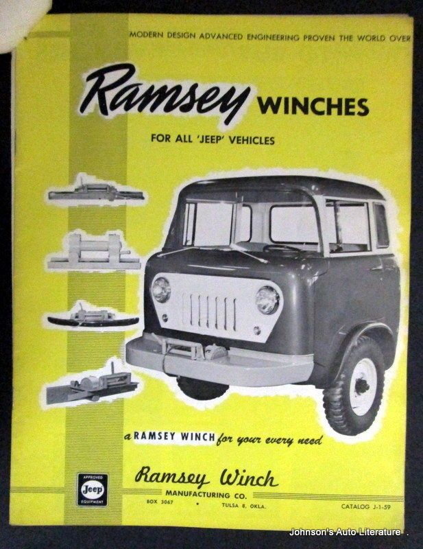 Jeep 1960 Ramsey Winch Sales Brochure With Extras