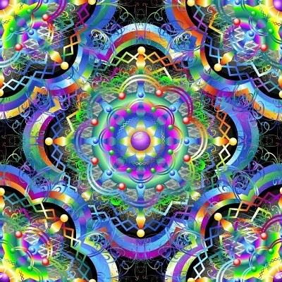Mandala Universe Rainbow Colors