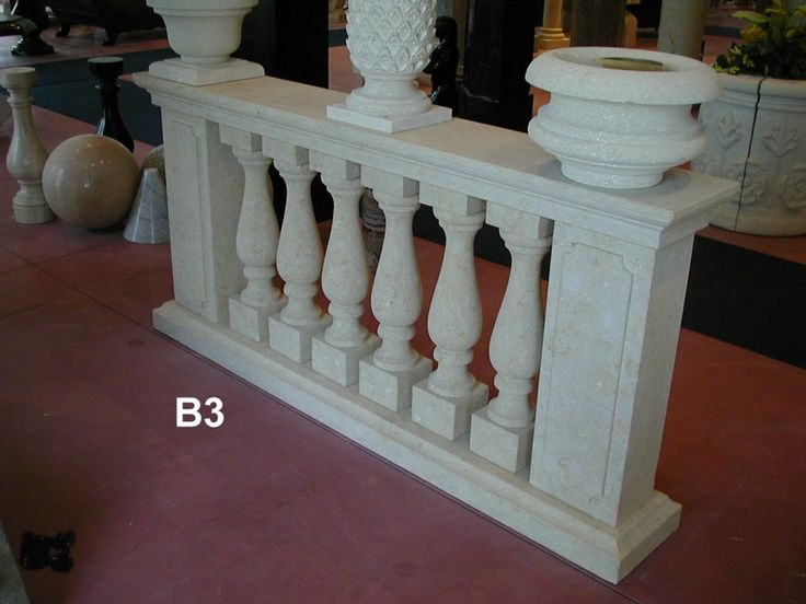 Balustrade in yellow stone of Vicenza - http://www.achillegrassi.com/en/project/yellow-stone-balustrade-of-vicenza/ - Balustrade in yellow stone of Vicenza (code B3), Total height 90 cm consists of:  Ground and shaped section. 30×10 cm Balusters in the middle 70x15x15 cm pillars with mirror embossed 70x25x20 cm