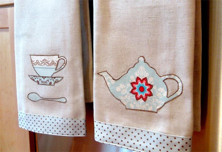 286 Best Tea Towels Images On Pinterest Tea Towels Dish
