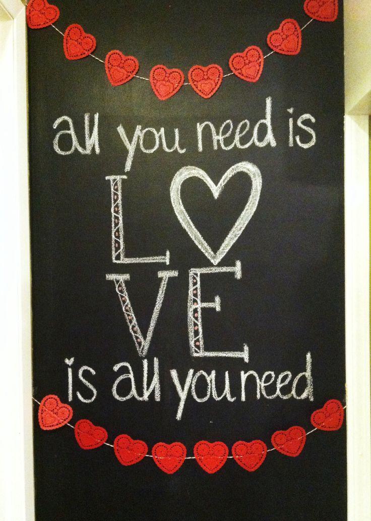 [+] valentine's day chalkboard ideas